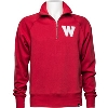 Image for '47 Brand Wisconsin ¼ Zip Sweatshirt (Red)