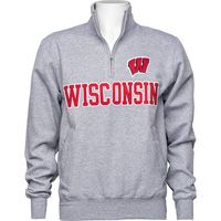 Cover Image For Champion Wisconsin ¼ Zip (Grey)
