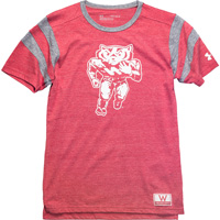 Image For Under Armour Youth Football Bucky Tee (Vintage Red/Grey)*