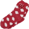 Image for ZooZatz Youth Polka Dot Fuzzy Socks (Red/White)