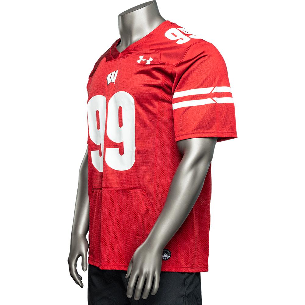 size 40 b9eed 93652 Under Armour WI Replica JJ Watt Football Jersey #99 (Red ...