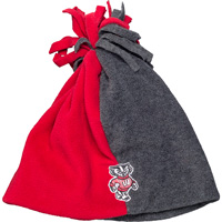 Image For Logofit Toddler Bucky Badger Fleece Hat (Red/Gray)