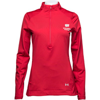 Image For Under Armour Women's Wisconsin Waffle ½ Zip (Red) *