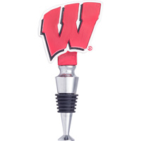 Image For Evergreen Wisconsin Motion W Wine Stopper (Red)