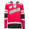 Image for Champion Wisconsin Hockey Hooded Sweatshirt (Red/Black) 3X