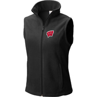 Image For Columbia Women's Wisconsin Fleece Vest (Black)