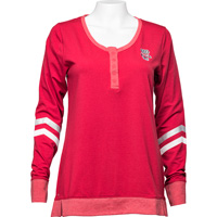 Cover Image For Antigua Women's Button Down Long Sleeve (Red) *