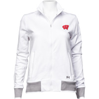 Image For Under Armour Women's Full Zip Track Jacket (White) *