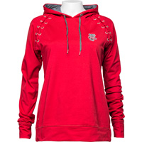 Image For Antigua Women's Bucky Badger Lacer Hoodie (Red) *