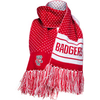 Cover Image For '47 Brand Women's Badgers Dot Scarf (Red/White)
