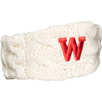 Cover Image For '47 Brand Women's Wisconsin Cable Knit Earband (Natural)