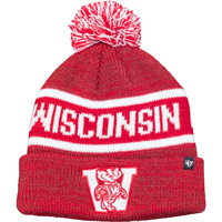 Image For '47 Brand Youth Wisconsin Knit Hat (Red)