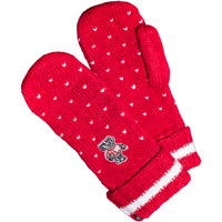Image For '47 Brand Women's Badgers Dot Mittens (Red)