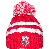 Image For '47 Brand Women's Bucky Badger Knit Hat (Red)