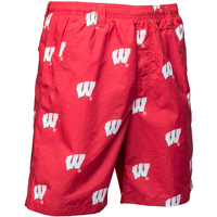 Cover Image For Columbia PFG Wisconsin Motion W Swim Shorts (Red/White) *