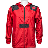 Cover Image For Columbia Wisconsin Windbreaker (Red/Black) *