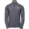 Image for Under Armour Wisconsin ¼ Zip Long Sleeve (Charcoal) 3X