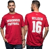 Image for Under Armour Russell Wilson Wisconsin T-Shirt (Red) 3X