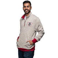 Cover Image For '47 Brand Vault ¼ Zip Sweater (Heather/Natural)