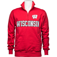 Cover Image For Champion Wisconsin Motion W ¼ Zip (Red)