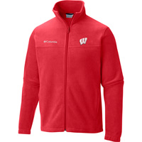 Image For Columbia WI Badgers Flanker II Fleece Jacket (Red) Tall*