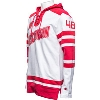 Cover Image for Champion Wisconsin Hockey Hooded Sweatshirt (White/Red)*