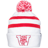 Image For '47 Brand Vault Bucky Badger Knit Hat (White/Red)