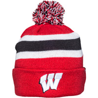 Cover Image For '47 Brand Youth Wisconsin Knit Hat (Red/White/Black)