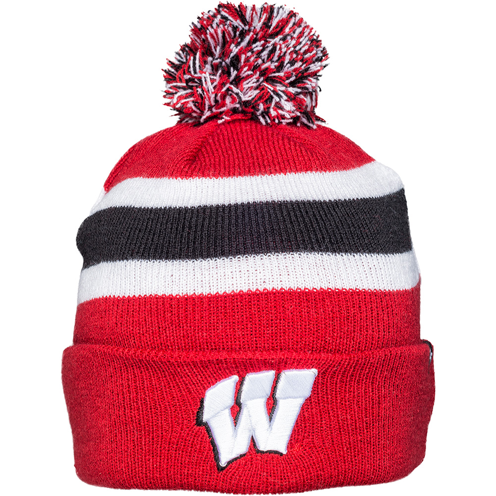efce453ac3276 47 Brand Youth Wisconsin Knit Hat (Red White Black)