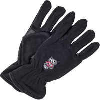 Image For '47 Brand Bucky Badger Fleece Gloves (Black)