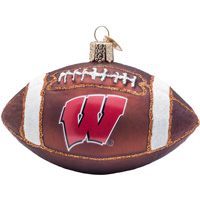 Cover Image For Old World Christmas Wisconsin Football Ornament