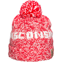 Image For Campo Alpaca Wisconsin Knit Hat (Red/White)