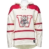 Image for '47 Brand Wisconsin Vault Hooded Sweatshirt (Cream/Red)