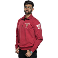 Image For '47 Brand Wisconsin Alumni ¼ Zip Sweatshirt (Red)