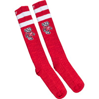 Cover Image For '47 Brand Bucky Badger Knee High Socks (Red/White)