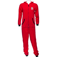 Image For Boxercraft Bucky Badger Fleece One Piece Pajama (Red)