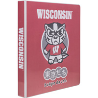 Cover Image For Samsill Tokyodachi Bucky Badger 1 Inch Binder