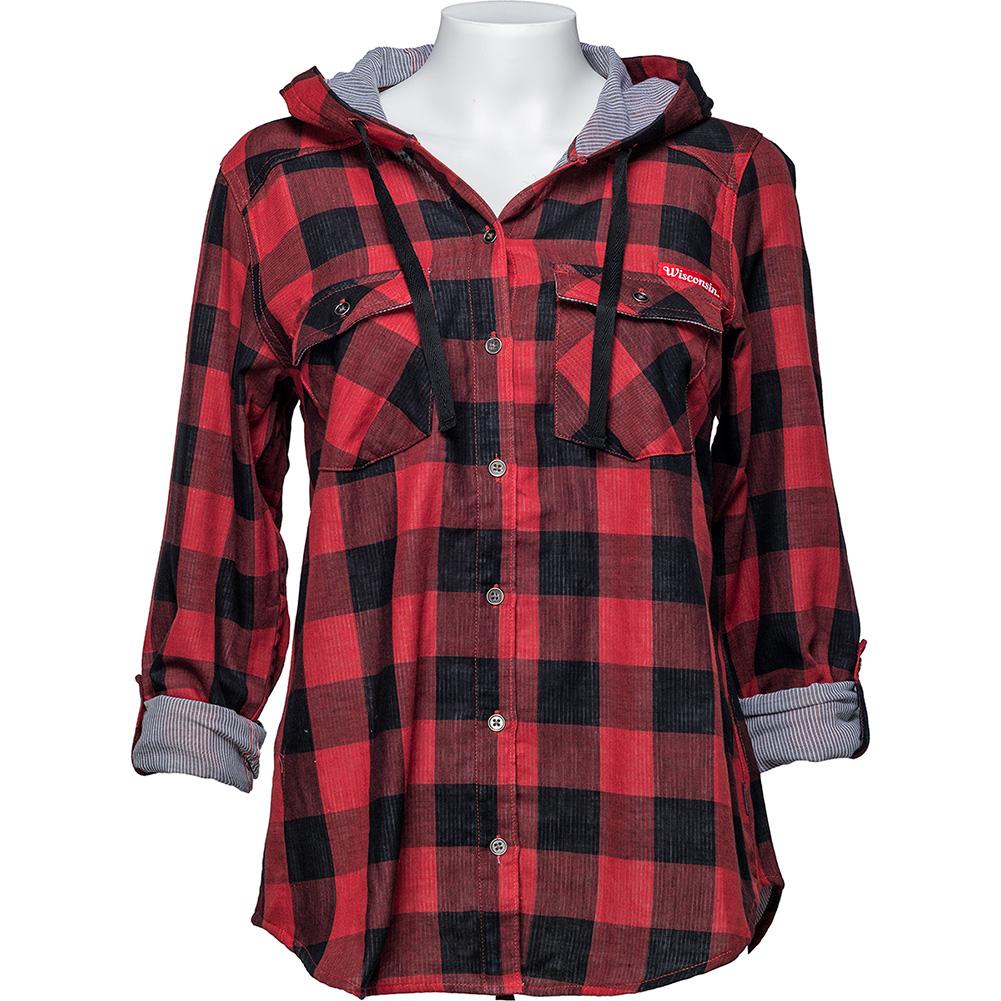 4598f2a6 Columbia Women's WI Buffalo Plaid Shirt (Red/Black) Plus ...