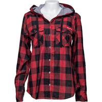 Image For Columbia Women's WI Buffalo Plaid Shirt (Red/Black) Plus