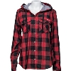 Cover Image for Columbia Women's Wisconsin Buffalo Plaid Shirt (Red/Black)