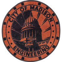 Image For Fan Mats City of Madison Manhole Cover Rug
