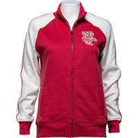 Image For '47 Brand Women's Bucky Badger Track Jacket (Red/White)