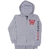 Image for '47 Brand Youth Wisconsin Full Zip Sweatshirt (Gray)