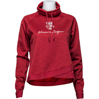 Image For '47 Brand Women's Funnelneck Sweatshirt (Red)
