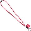 Image for Spirit Products, LTD. Wisconsin Striped Lanyard (Red/White)
