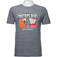 Cover Image For New Era 2018 Pinstripe Bowl Wisconsin Badger T-Shirt