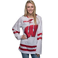 Image of Under Armour Women s WI Replica Hockey Jersey (White) 5c8e4469f77