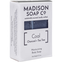 Image For Madison Soap Co. Coal Activated Charcoal + Tea Tree Soap