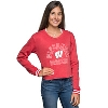 Cover Image for Chicka-D Women's Corduroy Wisconsin Crewneck (Red)