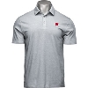 Image for Under Armour Wisconsin Charged Cotton Polo (Gray)
